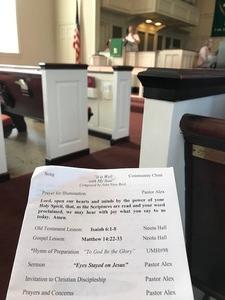 Community Worship bulletin