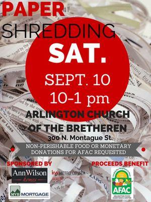 Shredding for AFAC flyer