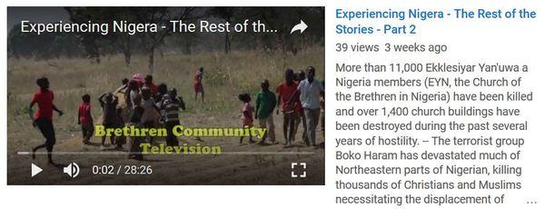 Brethren Voices Experiencing Nigeria