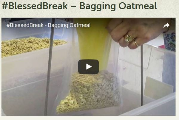 Blessed Break Bagging Oatmeal