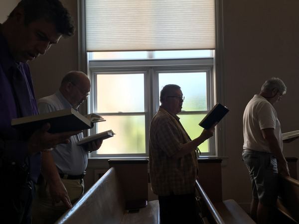 Singing hymns