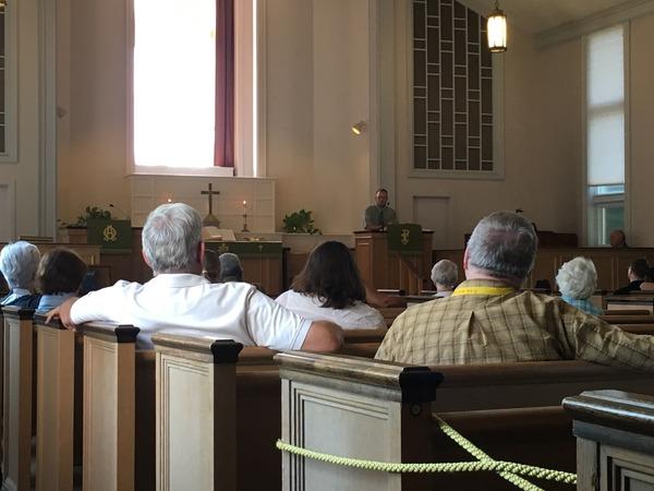 Jamie Risser preaching