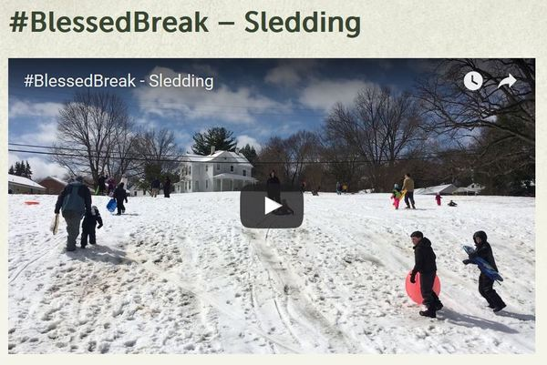 Blessed Break Sledding