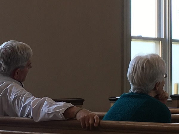 Hearing the sermon.