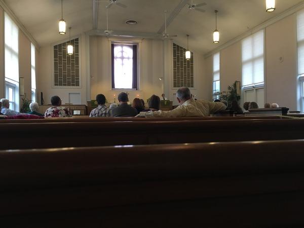 Charlotte Bear preaching