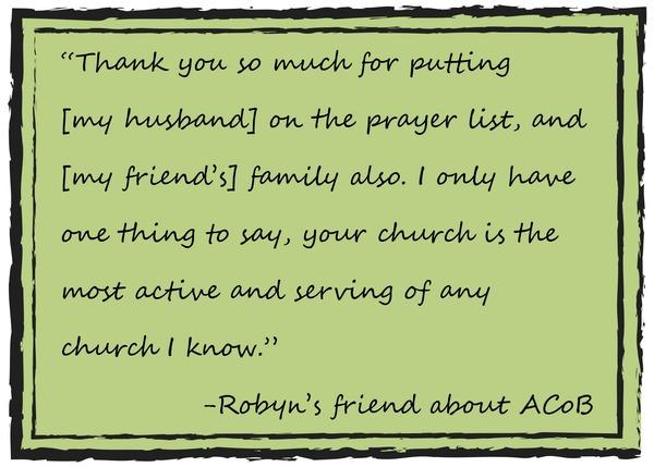 Robyn's friend on ACoB