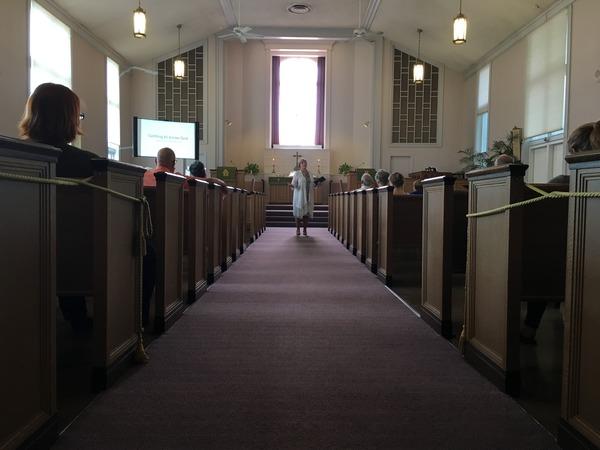 Pastor Nancy Preaching