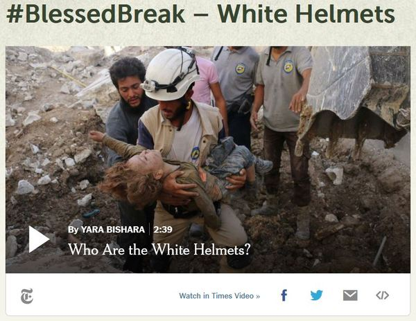 Blessed Break White Helmets