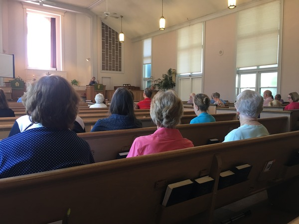 Rev. Charlotte preaching