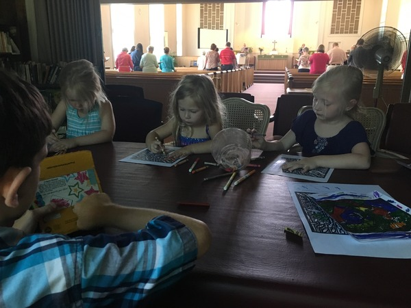 Coloring during worship