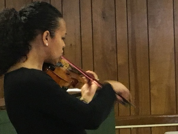Our guest musician treated us to beautiful violin playing.