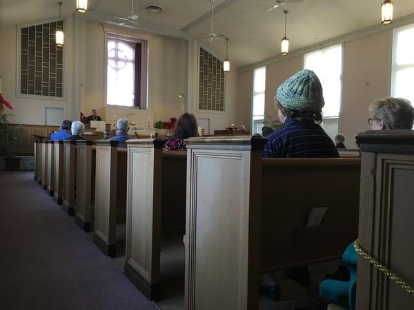 Everett serving as worship leader