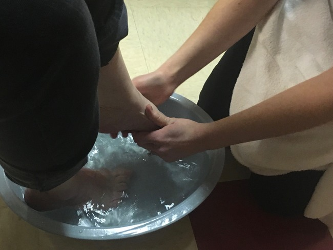 Feetwashing.