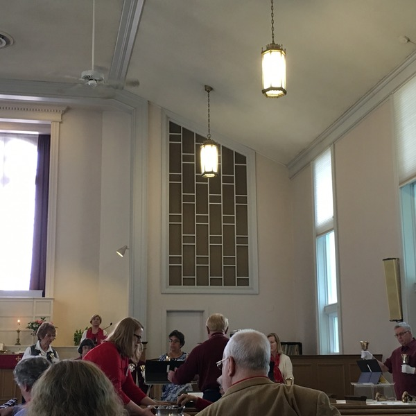 Communion with the bells playing