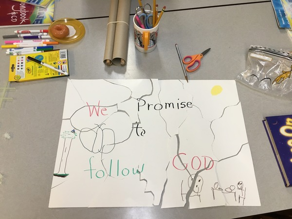 A Sunday School craft and promise