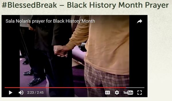 #BlessedBreak Black History Month Prayer